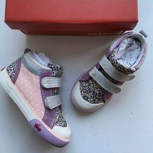 See Kai Run Girls Kya high top sneakers size 9.5